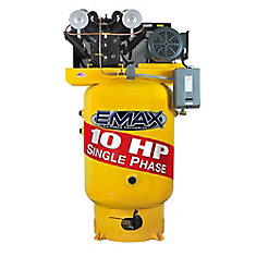 Industrial Plus 10 HP 1-Phase 120 gal.Vertical Industrial Air Compressor