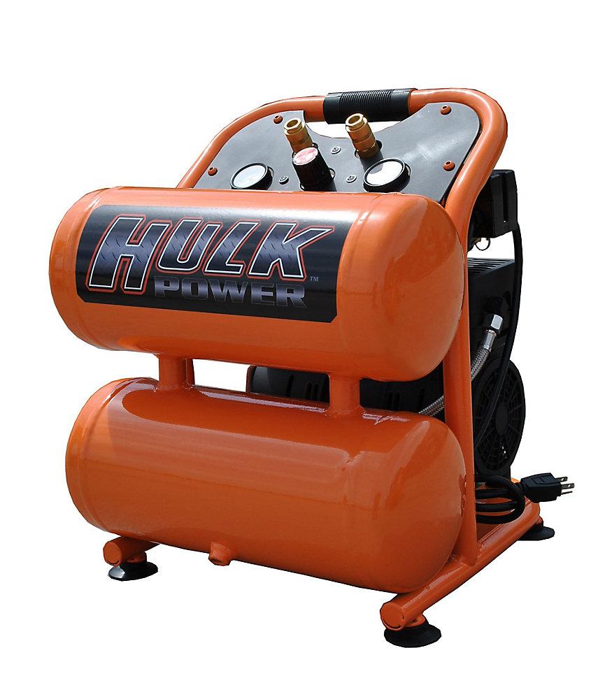 Hulk 1hp 4 Gal  Silent Air Portable Compressor