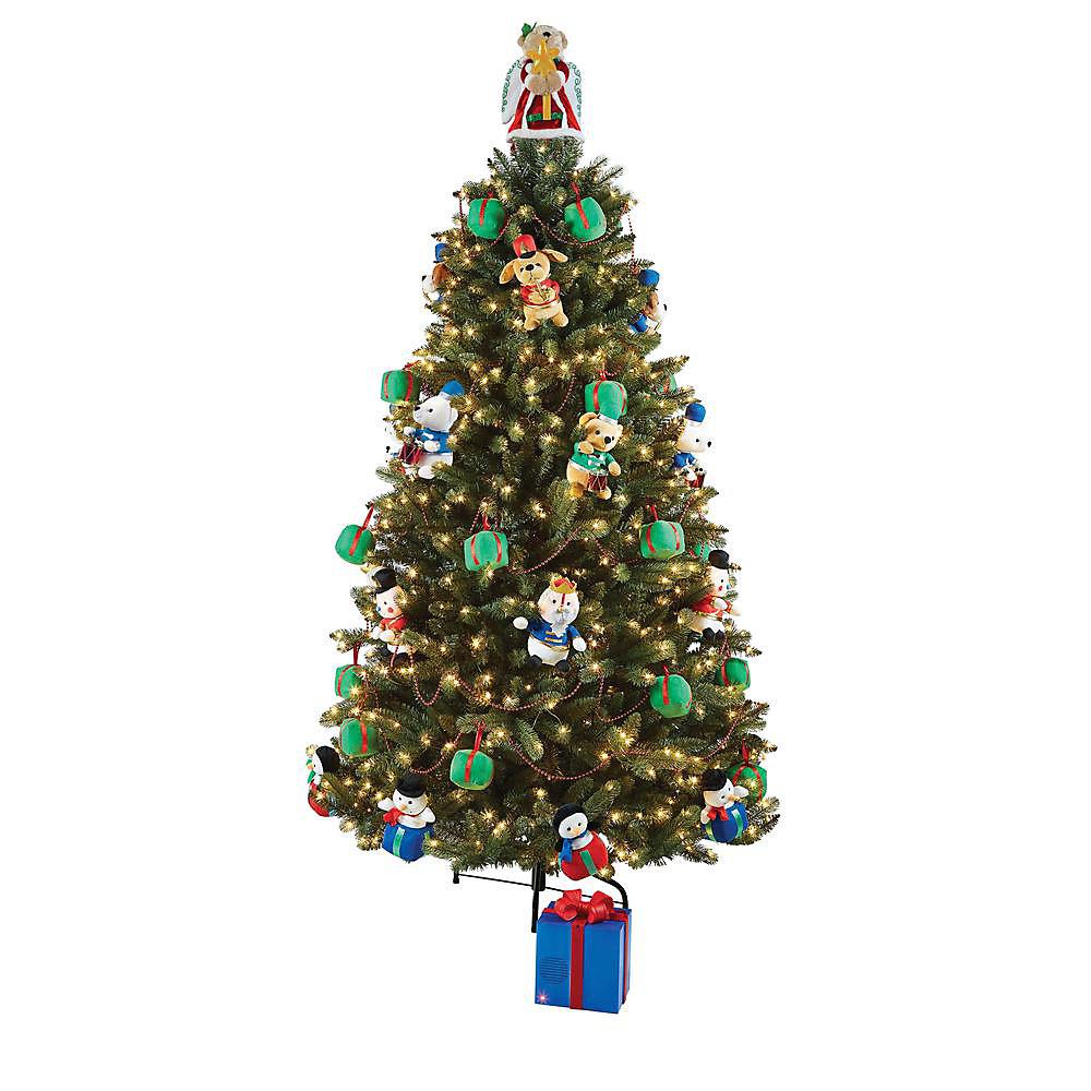 Arbre de Noël avec peluches animées, 8 pi