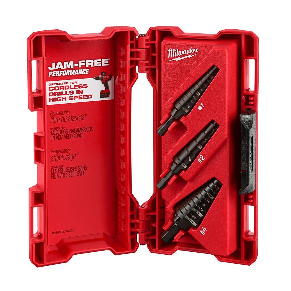Milwaukee Tool Black Oxide Step Drill Bit Kit (3-Piece)
