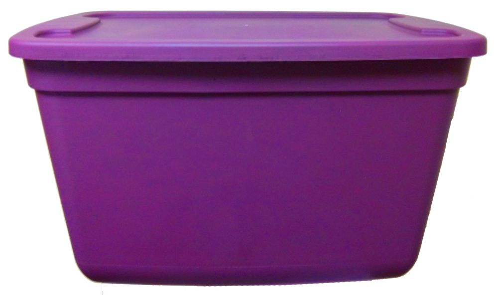 76L Heavy Duty Resin Storage Container in Plum