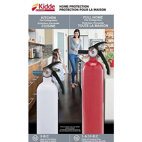 5-B:C White Kitchen/Garage & 1-A:10-B:C Multipurpose Red Fire Extinguisher Twin Pack
