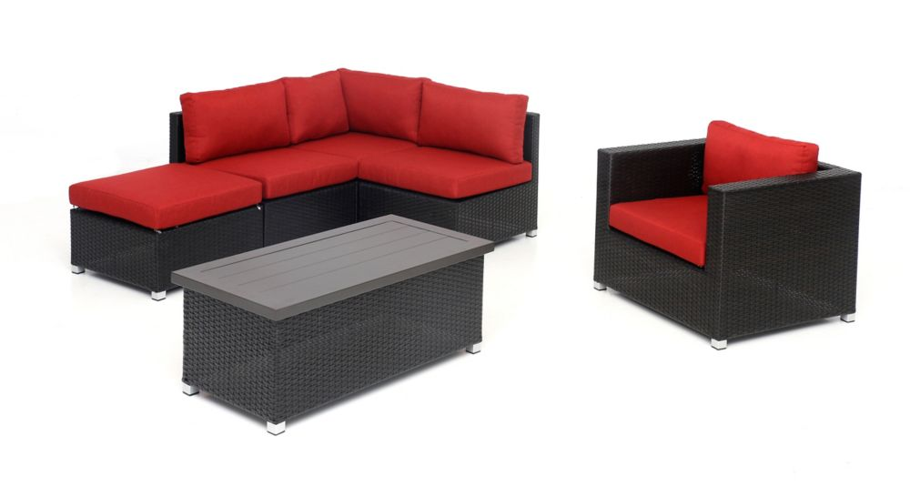Sunset Patio Innesbrook Collection 6.5 with Red Cushions