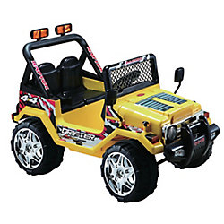 Kidsquad 12V Jeep Wrangler Ride-On Toy in Yellow