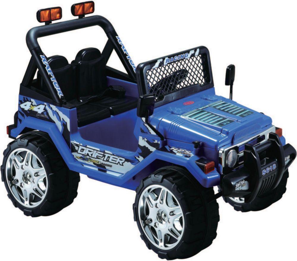 Kidsquad Blue 12V Ride on Jeep Wrangler