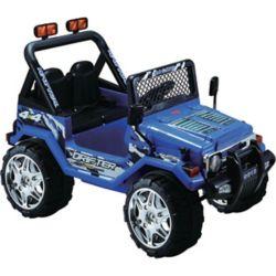 Kidsquad Jeep Wrangler Bleu Porteur de 12 Volts
