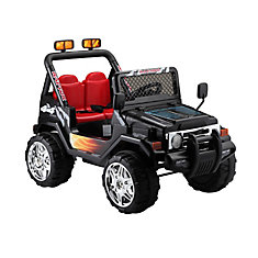 Jeep Wrangler Noir Porteur de 12 Volts
