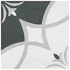 Twenties Crest 7-3/4-inch x 7-3/4-inch Ceramic Floor and Wall Tile (11 sq.ft. / case)