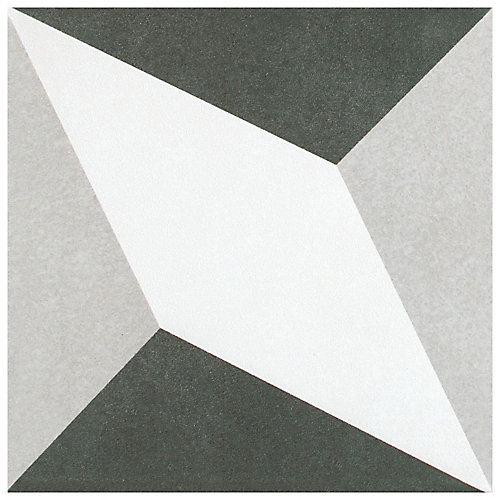 Twenties Diamond 7-3/4-inch x 7-3/4-inch Ceramic Floor and Wall Tile (11 sq.ft. / case)
