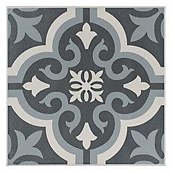 Carreau en céramique pour sol/mur Braga noir 7 3/4 po x 7 3/4 po (11,11 pi2/boîte)