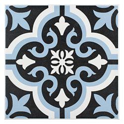 Merola Tile Carreau en céramique pour sol/mur Braga bleu 7 3/4 po x 7 3/4 po (11,11 pi2/boîte)