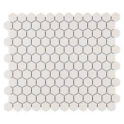 Merola Tile Carreau de mosaïque en porcelaine Gotham Hex blanc antique 10 1/4 po x 11 3/4 po (8,56 pi2/boîte)