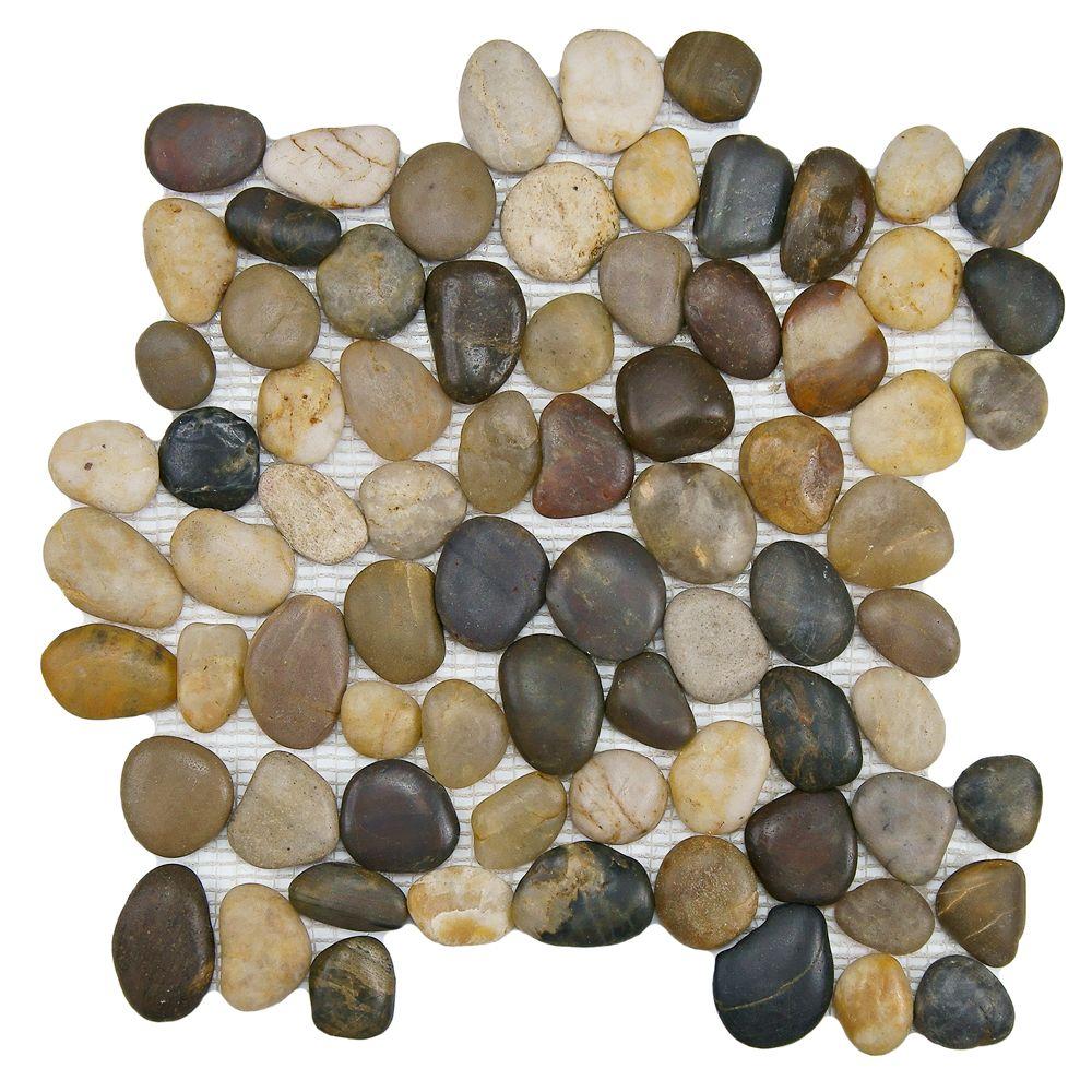 Merola Tile Riverstone Multi 11 3 4