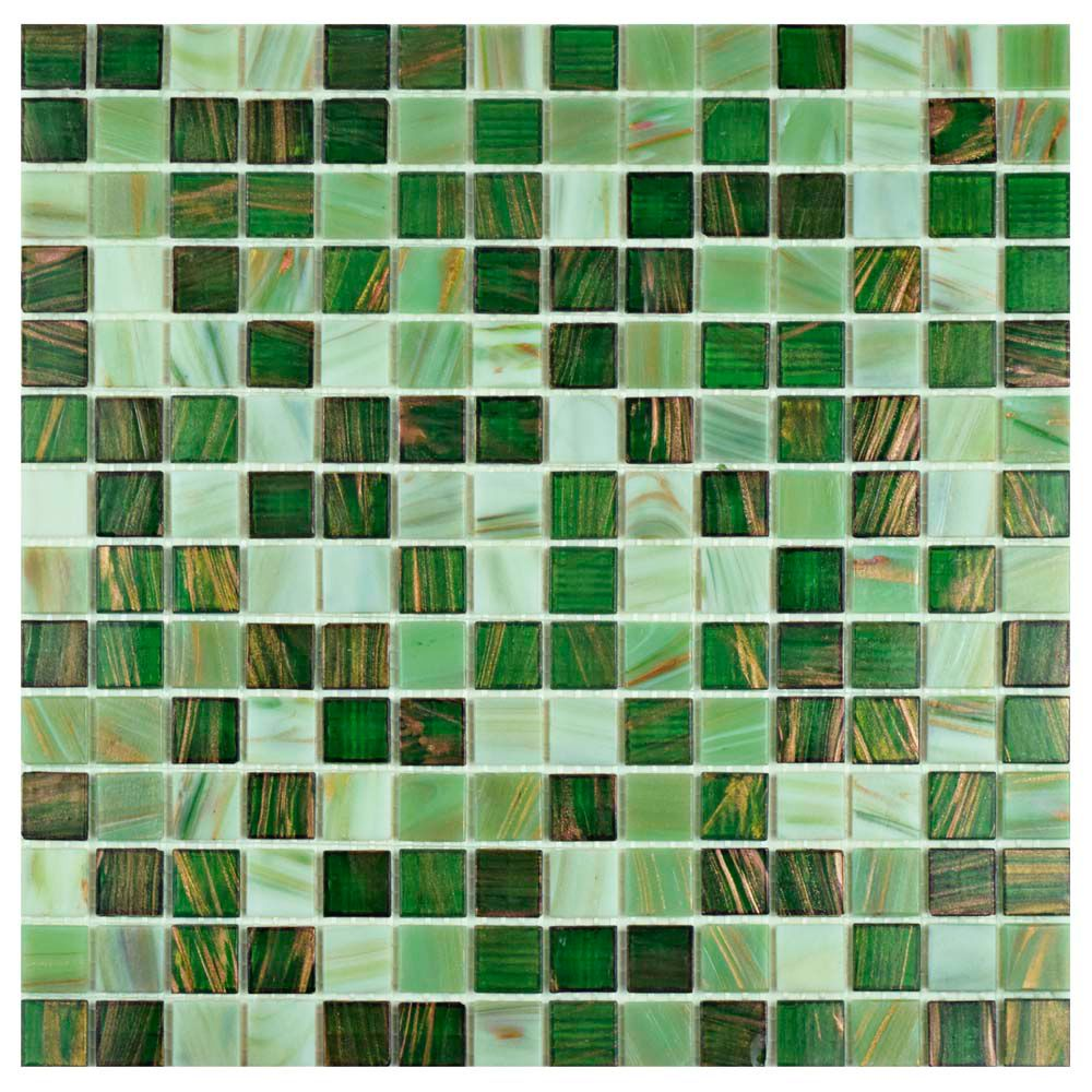 Merola Tile Coppa Forest 12-inch x 12-inch x 4 mm Glass Mosaic Tile (13.27 sq.ft. / case)