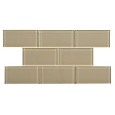Tessera Subway Sandstone 3-inch x 6-inch Glass Wall Tile (9.03 sq. ft. / case)