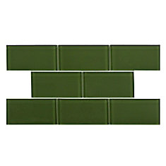 Tessera Subway Sage 3-inch x 6-inch Glass Wall Tile (9.03 sq. ft. / case)