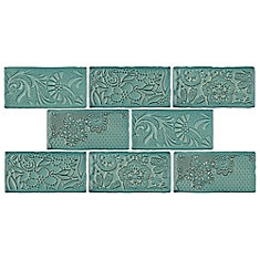 Carreau mural en céramique Antic Feelings Lava Verde 3 po x 6 po (4 pi2/boîte)