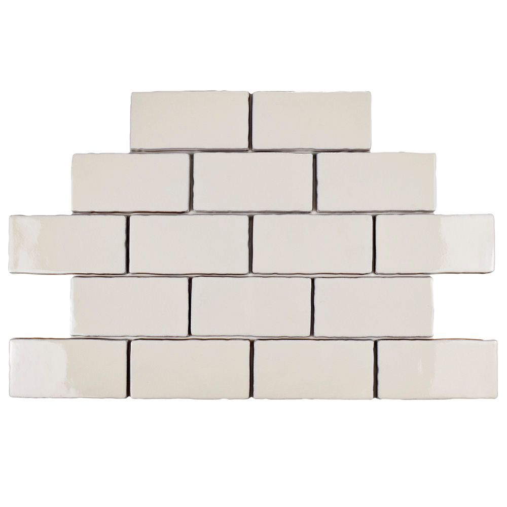 Merola Tile Antic Craquelle White 3-inch x 6-inch Ceramic Wall Tile (4 sq. ft. / case)