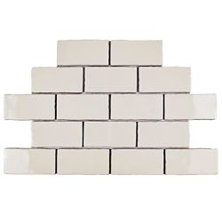 Merola Tile Antic Craquelle White 3-inch x 6-inch Ceramic Wall Tile (4 sq. ft. / case)