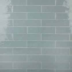 Merola Tile Chester Acqua 3-inch x 12-inch Ceramic Wall Tile (5.5 sq. ft. / case)