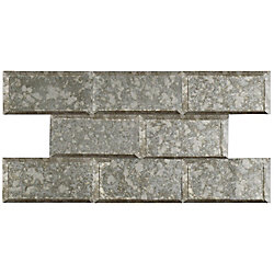 Merola Tile Lustre Beveled Antique Mirror 3-inch x 6-inch Glass Wall Tile (10 sq. ft. / case)