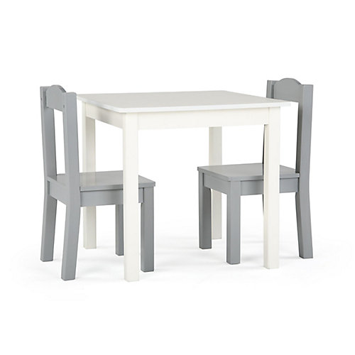 Inspire Table and 2 Chairs ( White Table, Grey Chairs)