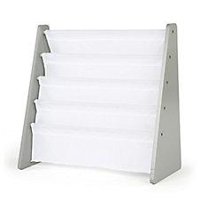 Présentoir de livres  Inspire (support gris, pochettes blanches)