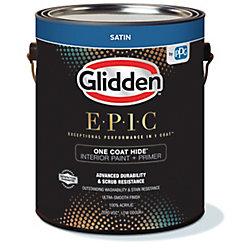 Glidden EPIC Glidden EPIC Opacité En Une Couche Peinture et Apprêt D'Intérieur Satiné Blanc 3,66 L