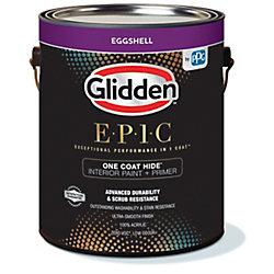 Glidden EPIC  Glidden EPIC Opacité En Une Couche Peinture et Apprêt D'Intérieur Coquille d'uf Blanc 3,66 L
