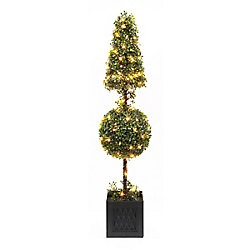Home Accents Holiday 41-inch 140 Twinkling Warm White LED-Lit Boxwood Christmas Tree