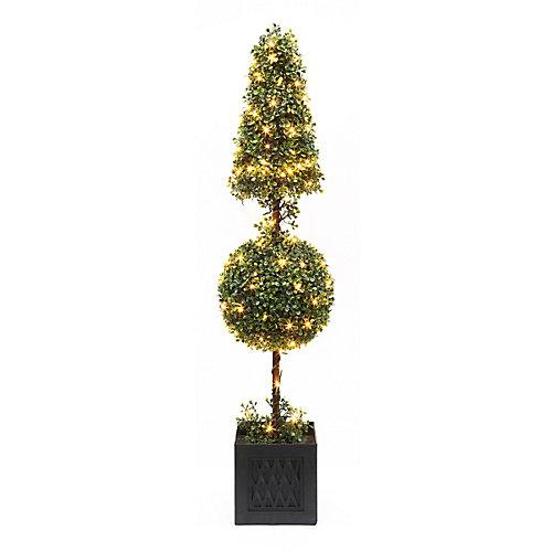 41-inch 140 Twinkling Warm White LED-Lit Boxwood Christmas Tree
