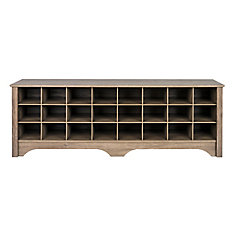 60-inch Shoe Cubby Bench - Drifted Gray
