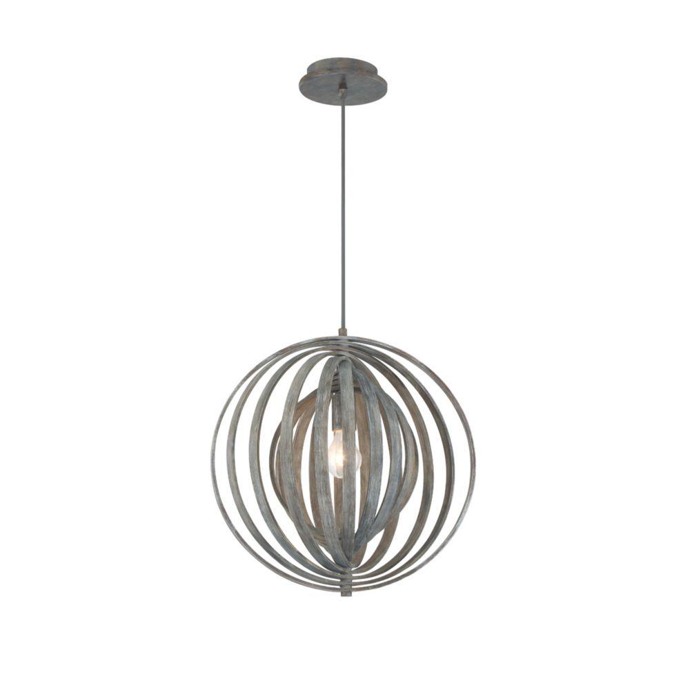 Eurofase Abruzzo Sleek Retractable Wood Small Light Pendant in Weathered Finish - 31874-033