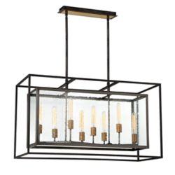 Eurofase Affilato Seeded Glass 8-Light Chandelier - 33697-017