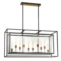 Eurofase Affilato Seeded Glass 10-Light Chandelier - 33698-014
