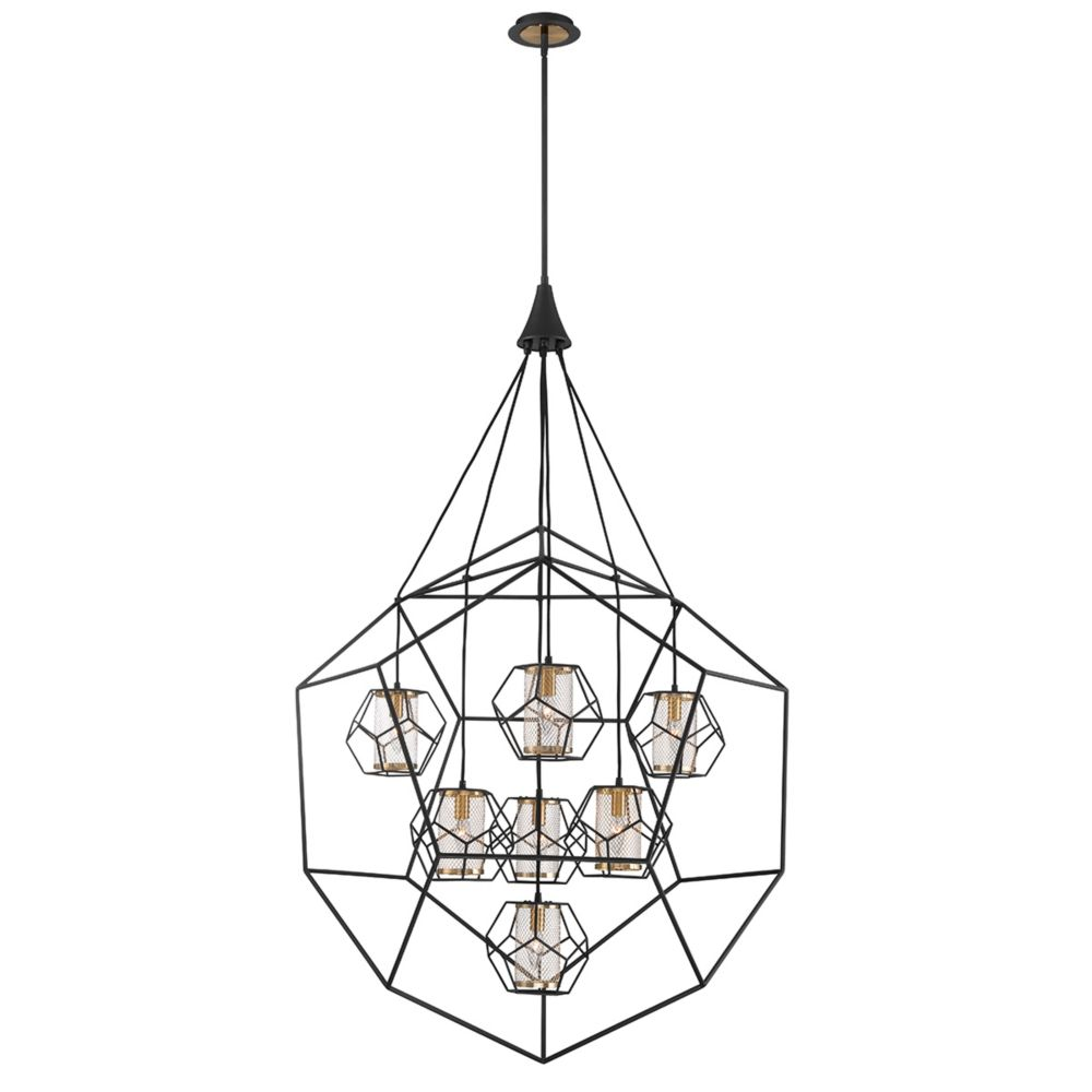 Eurofase Bettino Caged 7-Light Chandelier - 33702-018