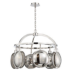 Havendale Mercury Glass 6-Light Sphere Chandelier - 33712-017