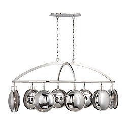 Havendale Mercury Glass 8-Light Sphere Chandelier - 33713-014