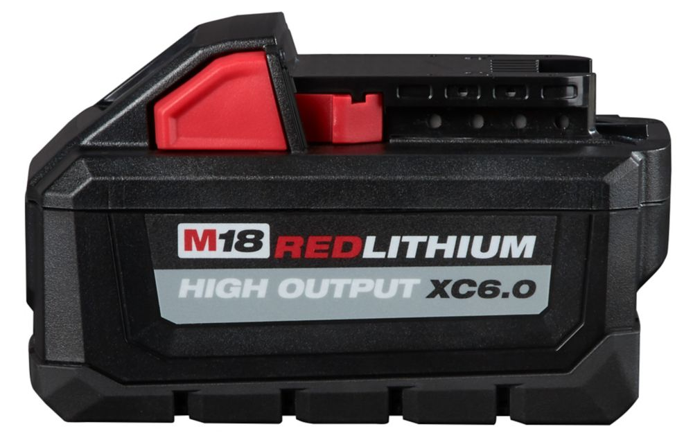 Milwaukee Tool M18 18-Volt Lithium-Ion High Output Battery Pack 6.0Ah