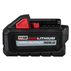 Milwaukee Tool M18 18V Lithium-Ion Extended Capacity (XC) HIGH OUTPUT 6.0 Ah REDLITHIUM Battery Pack
