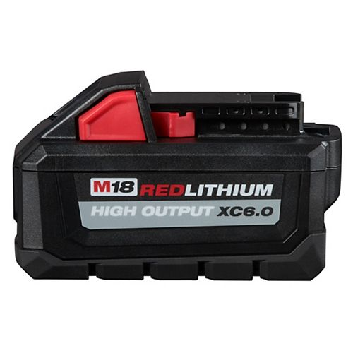 Milwaukee Tool Batterie M18 18V Lithium-Ion à capacité étendue (XC) HAUTE SORTIE 6,0 Ah REDLITHIUM