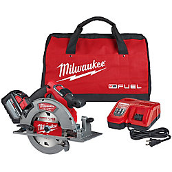 M18 FUEL 18V Lithium-Ion Brushless Cordless 7-1/4-Inch Circular Saw Kit w/ (1) 12.0Ah Battery