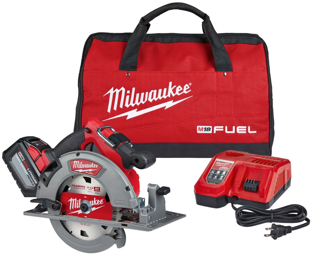 Milwaukee Tool M18 FUEL 18V Lithium-Ion Brushless Cordless 7-1/4-Inch Circular Saw Kit w/ (1) 12.0Ah Battery