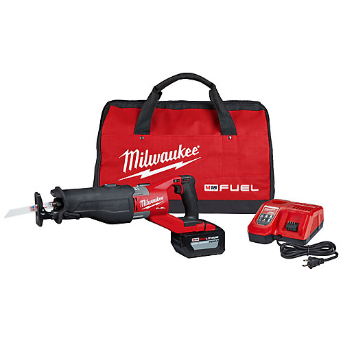 M18 FUEL 18V Lithium-Ion Brushless Cordless SUPER SAWZALL Reciprocating Saw Kit with Battery