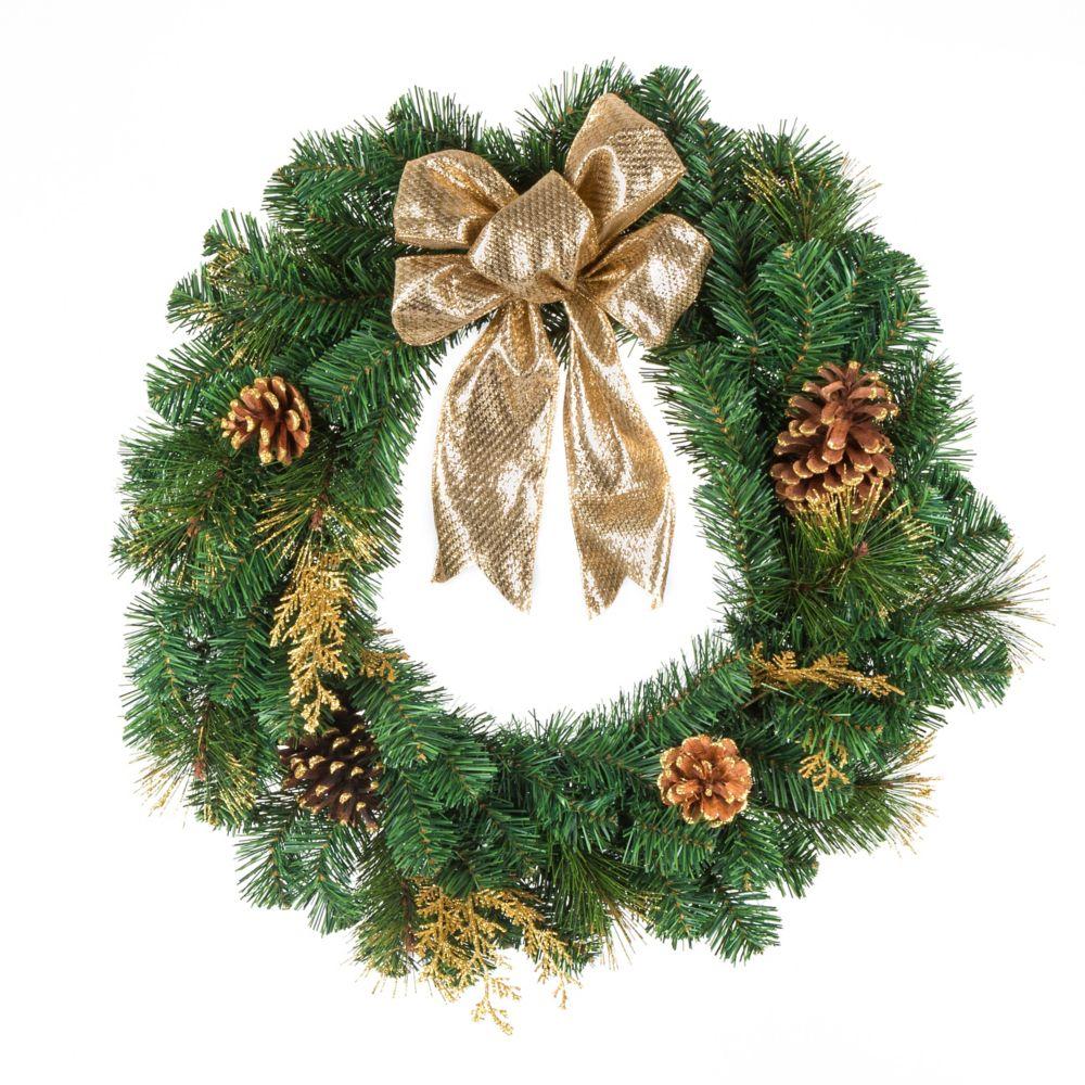 home accents holiday ange d coratif pour cime d 39 arbre or et argent home depot canada. Black Bedroom Furniture Sets. Home Design Ideas