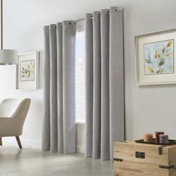 Home Decorators Collection Blake, Tissu oxford tonal, Obscurité totale, Panneau à oeillets 132 cm x 213 cm Argenté