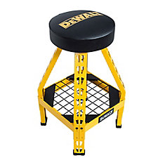 32-inch H x 17-inch W x 17-inch D Swivel Seat Shop Stool in Yellow