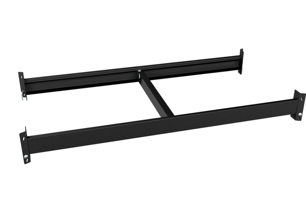 1000 Series Customizable Shelving 36-inch W x 4.25-inch H x 18-inch D Beam and Brace Kit in Black