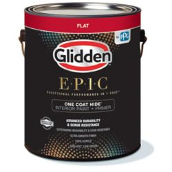 Glidden EPIC One Coat Hide Interior Paint + Primer Flat White 3.66 L
