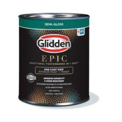 Glidden EPIC EPIC One Coat Hide Interior Paint + Primer Semi-Gloss White 916 mL